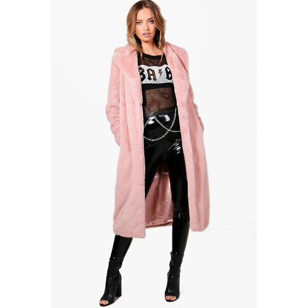 BOOHOO Freya Boutique Longline Faux Fur Coat - Wrap up in the latest coats and jackets and get out-there...