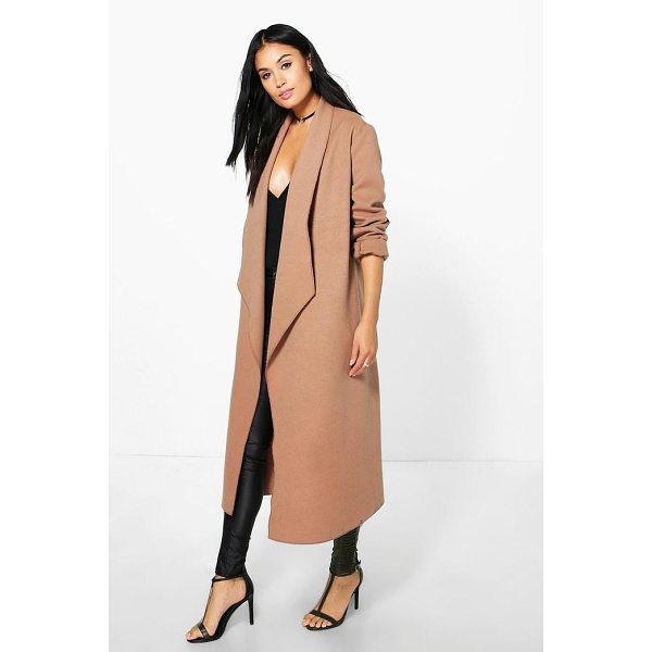 BOOHOO Freya Waterfall Wool Look Duster - Wrap up in the latest coats and jackets and get out-there...