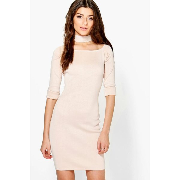 BOOHOO Freyja Choker Knit Dress - Dresses are the most-wanted wardrobe item for day-to-night...