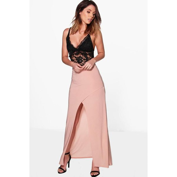 BOOHOO Gabriella Wrap Front Split Slinky Maxi Skirt - Skirts are the statement separate in every wardrobe This...