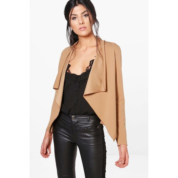 BOOHOO Gaby Waterfall Blazer - Wrap up in the latest coats and jackets and get out-there...