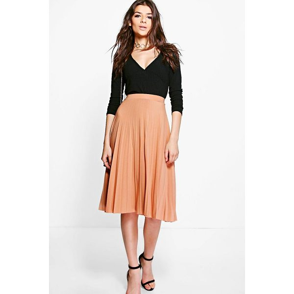 BOOHOO Geneva Pleated Slinky Midi Skirt - Skirts are the statement separate in every wardrobe This...