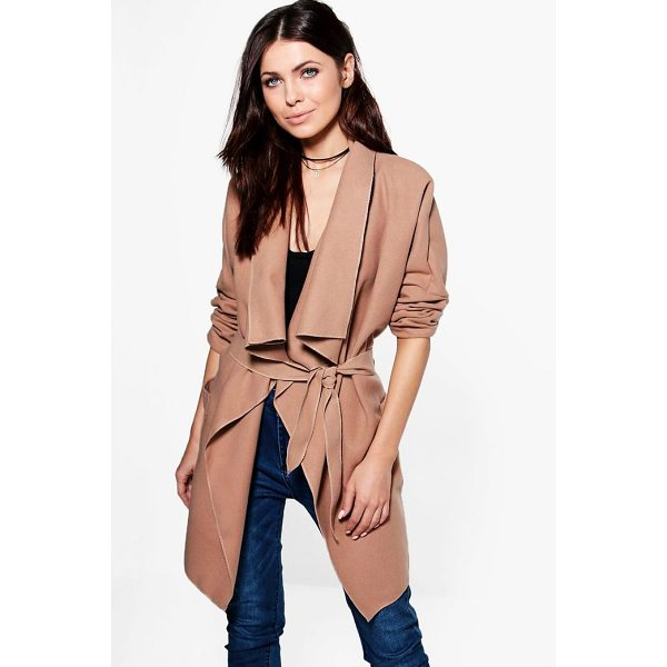 BOOHOO Georgia Waterfall Wool Look Coat - Wrap up in the latest coats and jackets and get out-there...
