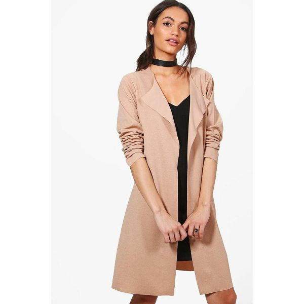 BOOHOO Georgina Long Sleeve Belted Duster - Wrap up in the latest coats and jackets and get out-there...