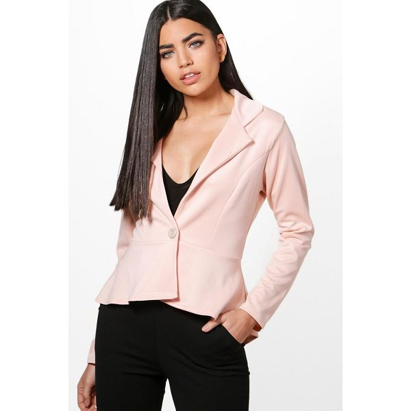 BOOHOO Georgina Peplum Button Blazer - Wrap up in the latest coats and jackets and get out-there...