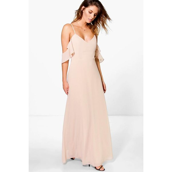 BOOHOO Gi Chiffon Strappy Open Shoulder Maxi Dress - Dresses are the most-wanted wardrobe item for day-to-night...