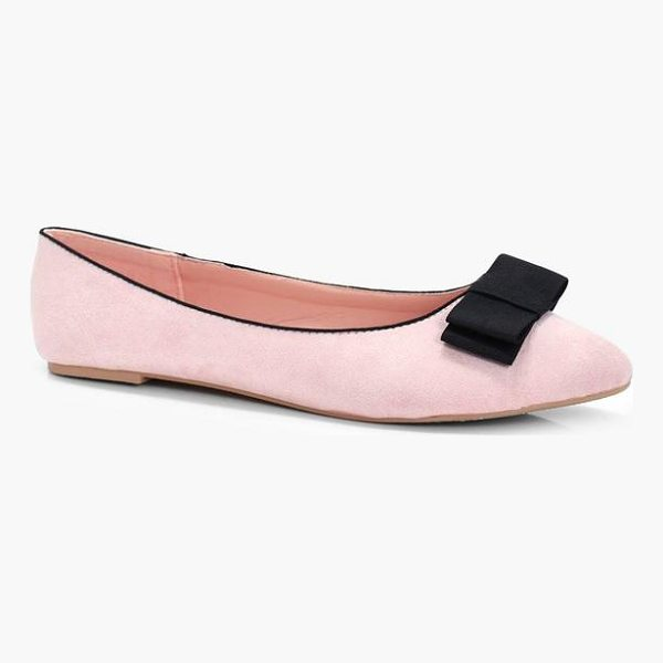 BOOHOO Gia Bow Slipper Ballet - We'll make sure your shoes keep you one stylish step ahead...