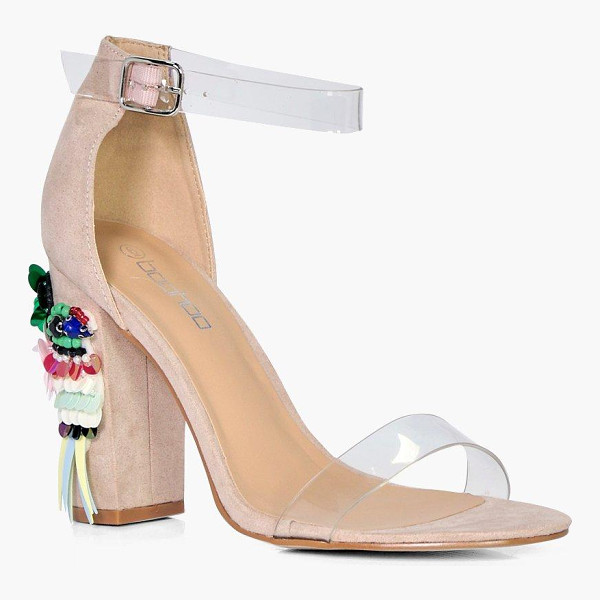 BOOHOO Grace Embellished Block Heel Sandals - We'll make sure your shoes keep you one stylish step ahead...