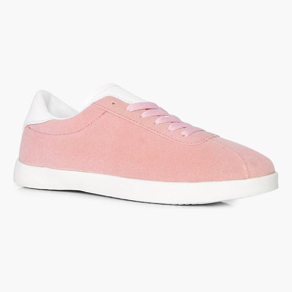 BOOHOO Grace Lace Up Retro Trainer - We'll make sure your shoes keep you one stylish step ahead...