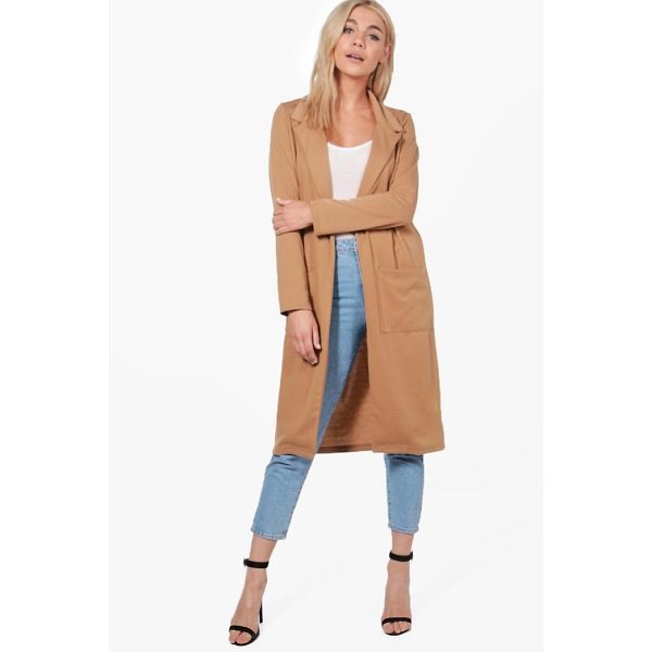 BOOHOO Grace Pocket Ponte Duster - Wrap up in the latest coats and jackets and get out-there...