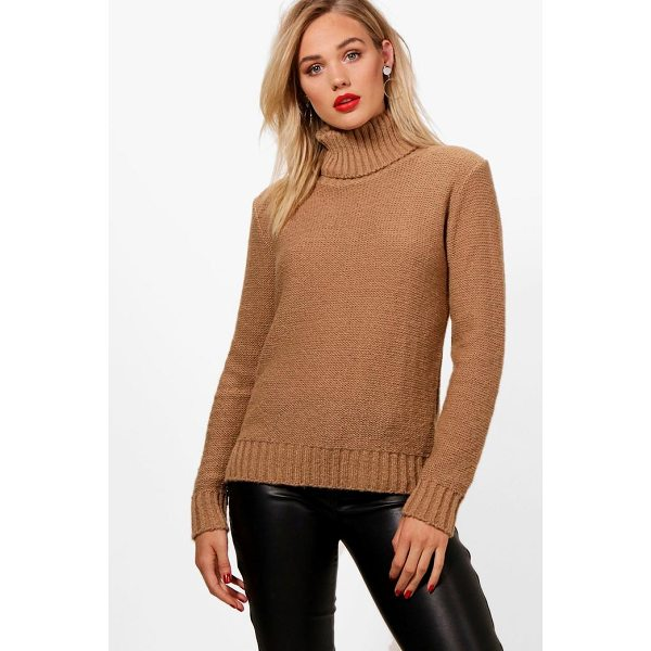 BOOHOO Grace Soft Knit Roll Neck Jumper - Nail new season knitwear in the jumpers and cardigans that...