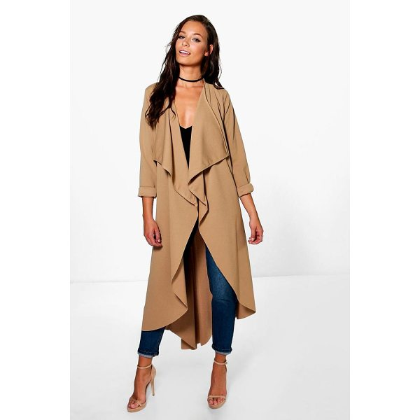 BOOHOO Grace Waterfall Duster - Wrap up in the latest coats and jackets and get out-there...