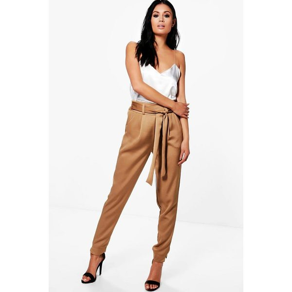 BOOHOO Gracie Luxe Satin Woven Slim Fit Trousers - Trousers are a more sophisticated alternative to...