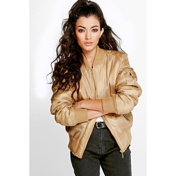 BOOHOO Gracie MA1 Bomber - Wrap up in the latest coats and jackets and get out-there...