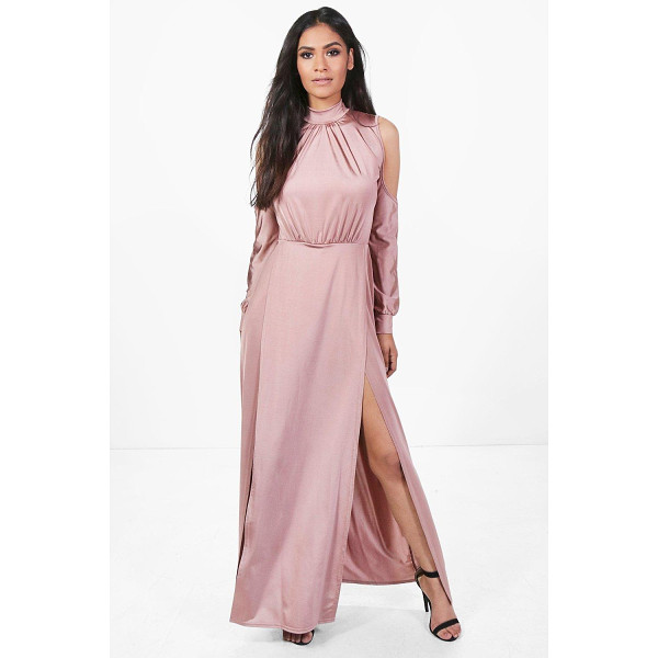 BOOHOO Gracie Slinky High Split Maxi Dress - Dresses are the most-wanted wardrobe item for day-to-night...