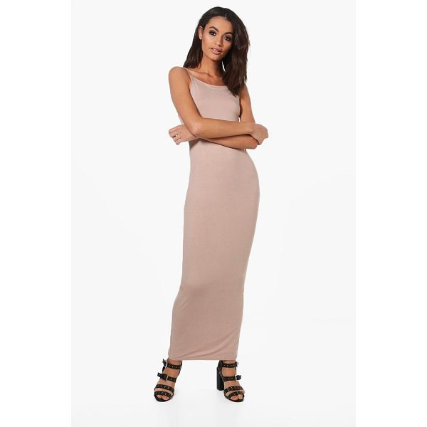 BOOHOO Han Double Layer Strappy Bodycon Maxi Dress - Dresses are the most-wanted wardrobe item for day-to-night...