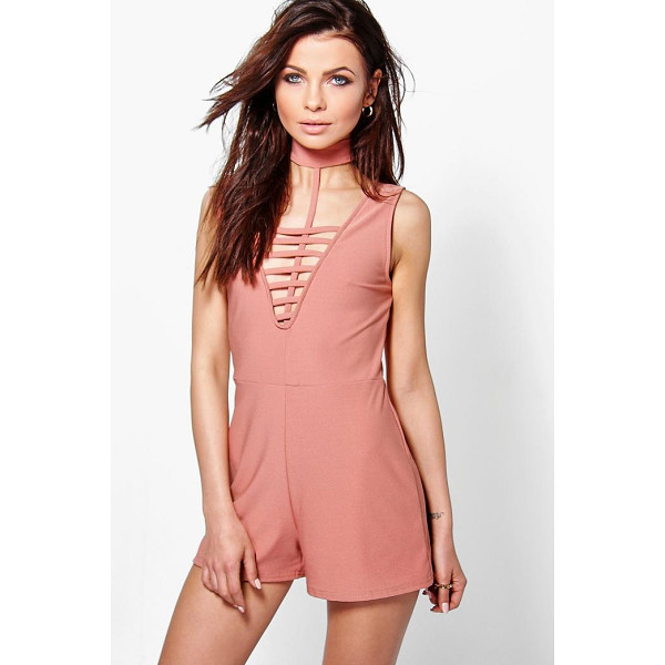 BOOHOO Hannah Choker Style Playsuit - Perfect for day or play, a playsuit will solve your...
