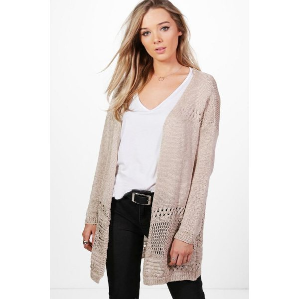 BOOHOO Hannah Crochet Hem Cardigan - Nail new season knitwear in the jumpers and cardigans that...