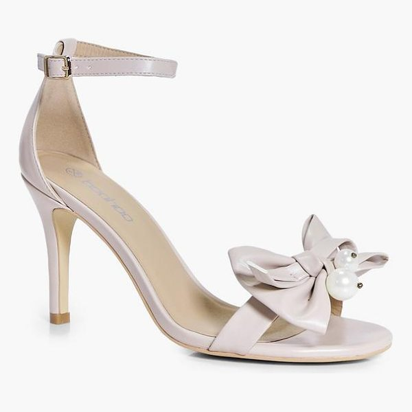 BOOHOO Hannah Pearl And Bow Two Part Heels - We'll make sure your shoes keep you one stylish step ahead...