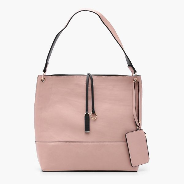 BOOHOO Hannah Popper Shopper Bag With Purse - Add attitude with accessories for those fashion-forward...