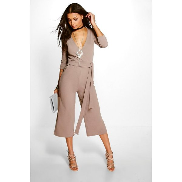 BOOHOO Hannah Roll Sleeve Relaxed Culotte Jumpsuit - Jump start your new season wardrobe with the always chic...
