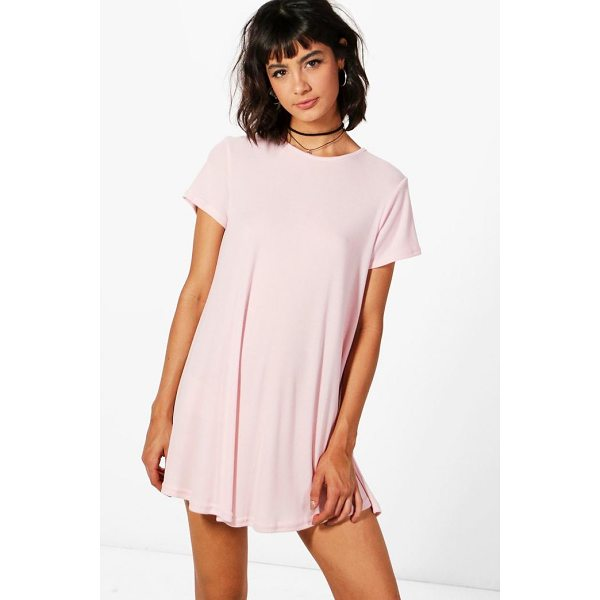 BOOHOO Hannah Short Sleeve Knitted Swing Dress - Nail new season knitwear in the jumpers and cardigans that...