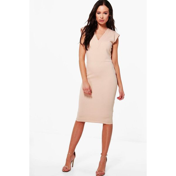BOOHOO Hannah Tailored Fitted Midi Dress - Dresses are the most-wanted wardrobe item for day-to-night...