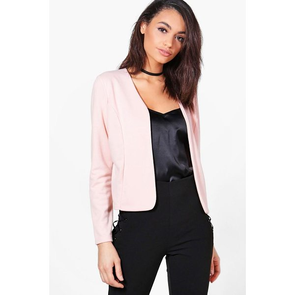 BOOHOO Harriet Edge To Edge Ponte Blazer - Wrap up in the latest coats and jackets and get out-there...