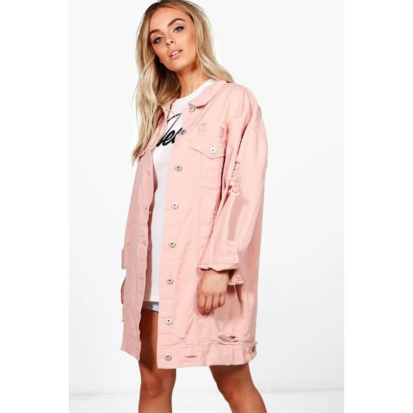 BOOHOO Harriet Oversized Distressed Jacket - Wrap up in the latest coats and jackets and get out-there...