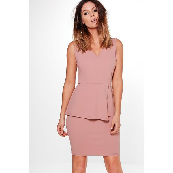 BOOHOO Harriet Peplum Tailored Dress - Dresses are the most-wanted wardrobe item for day-to-night...