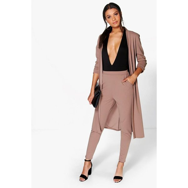 BOOHOO Harriet Pocket Scuba Crepe Tapered Trouser - Show 'em what you're working with in style with the classic...