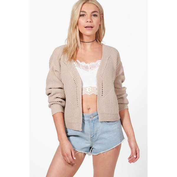 BOOHOO Harriet Rib Stitch Edge To Edge Cardigan - Nail new season knitwear in the jumpers and cardigans that...