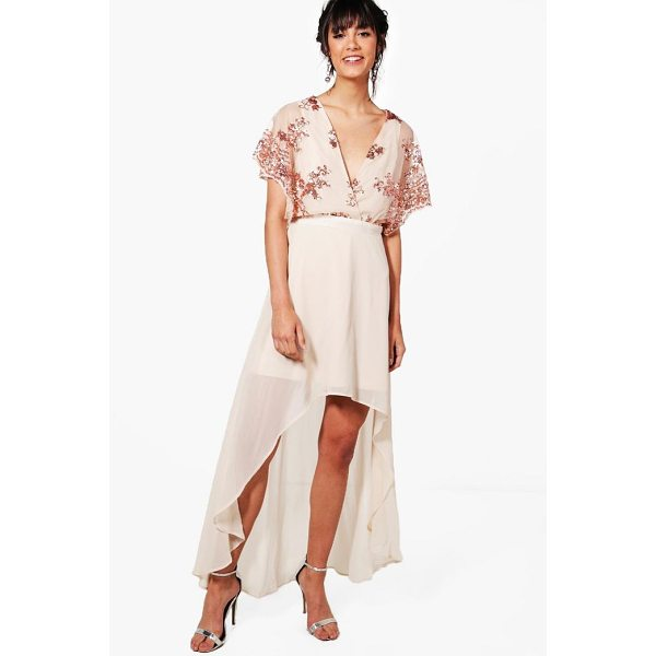 BOOHOO Harriet Sequin Top Dip Hem Maxi Dress - Heading out' Out-sparkle the crowd in a killer sequin...