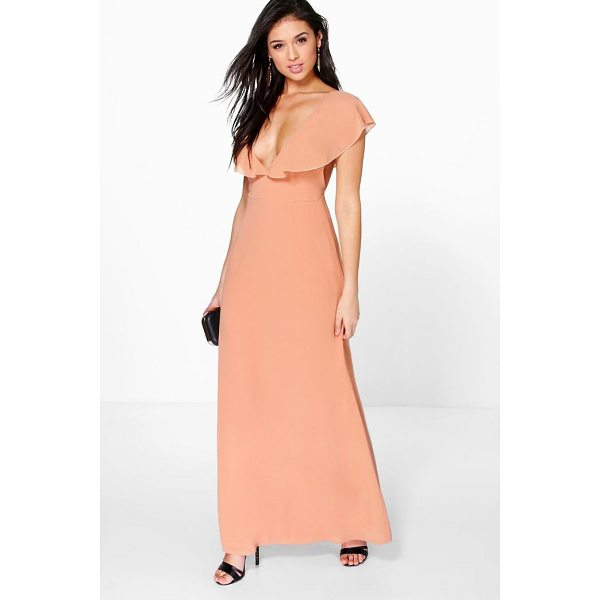 BOOHOO Hayley Chiffon Frill Angel Sleeve Maxi Dress - Dresses are the most-wanted wardrobe item for day-to-night...