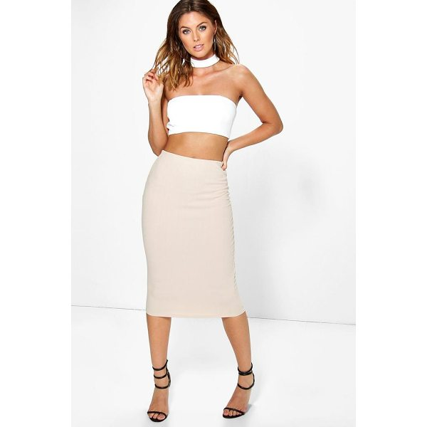 BOOHOO Heidi Choker Bandeau Crop And Midi Skirt Co-ord - Co-ordinates are the quick way to quirky this seasonMake...