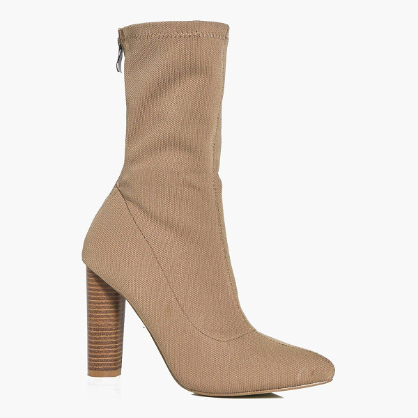 BOOHOO Heidi Cylinder Heel Pointed Sock Boot - We'll make sure your shoes keep you one stylish step ahead...
