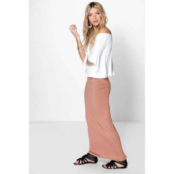 BOOHOO Helena Basic Jersey Maxi Skirt - Skirts are the statement separate in every wardrobe This...
