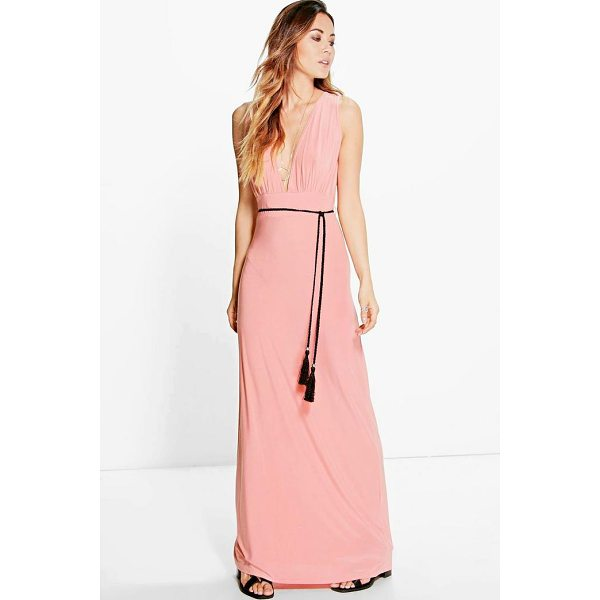 BOOHOO Henrietta Rope Tie Maxi Dress - Dresses are the most-wanted wardrobe item for day-to-night...