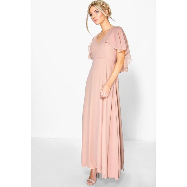 BOOHOO Hollie Chiffon Cape Detail Maxi Dress - Dresses are the most-wanted wardrobe item for day-to-night...