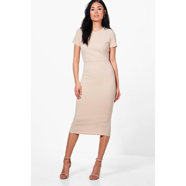 BOOHOO Hollie Fitted Midi Tailored Dress - Be seriously on trend this season with your hem line and...