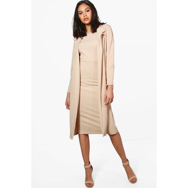 BOOHOO Hollie Longline Duster - Wrap up in the latest coats and jackets and get out-there...