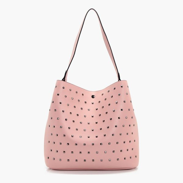 BOOHOO Hollie Square Stud Detail Day Bag - Add attitude with accessories for those fashion-forward...