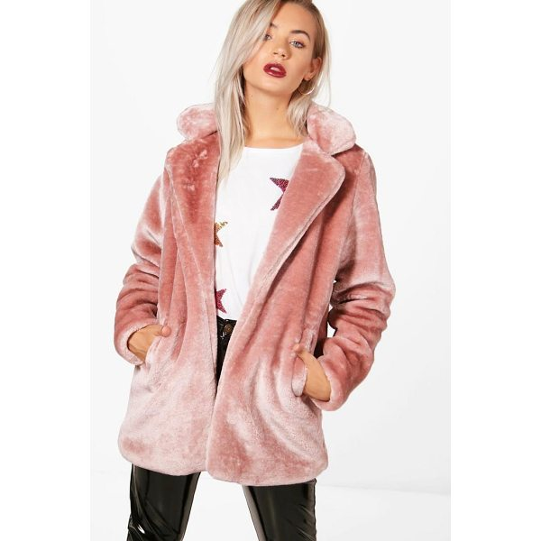 BOOHOO Holly Collared Faux Fur Coat - Wrap up in the latest coats and jackets and get out-there...