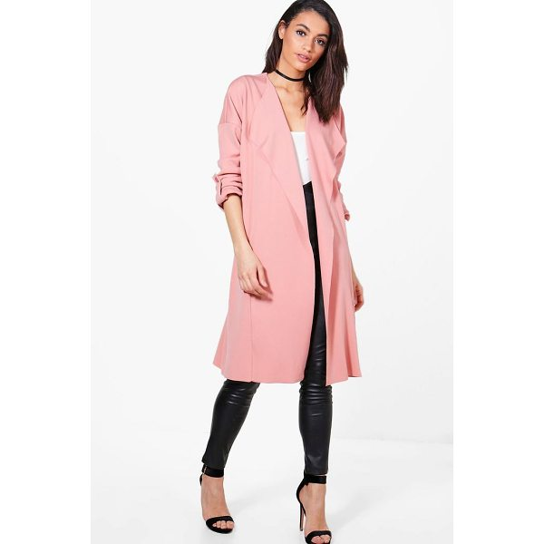 BOOHOO Holly Waterfall Duster Jacket - Wrap up in the latest coats and jackets and get out-there...