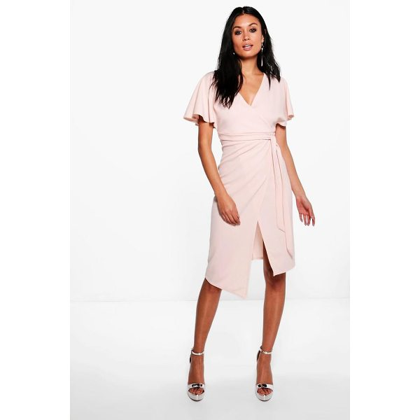 BOOHOO Imogen Tie Wrap Midi Dress - Stylish and effortless—wrap dresses are the perfect party...