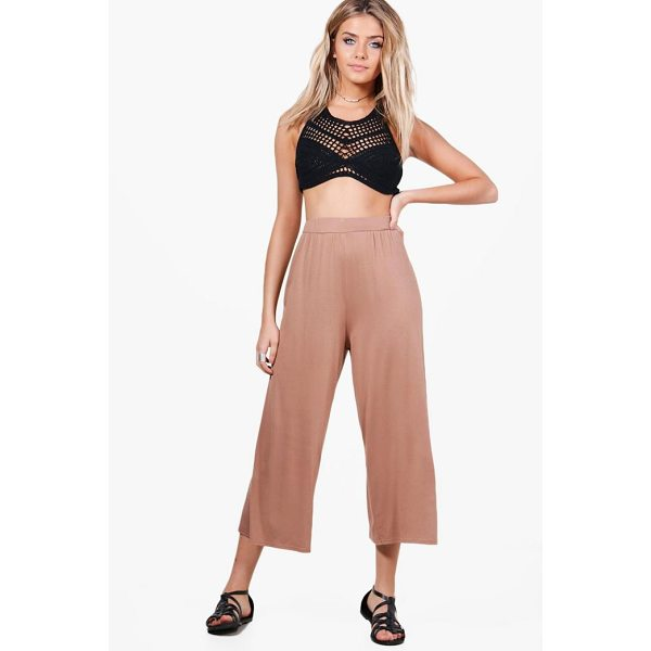 BOOHOO India Basic Jersey Wide Leg Culottes - Get your new wide or die pants with the hottest style of...