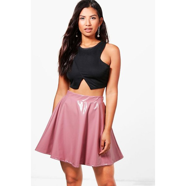 BOOHOO Ines Vinyl Skater Skirt - Skirts are the statement separate in every wardrobe This...