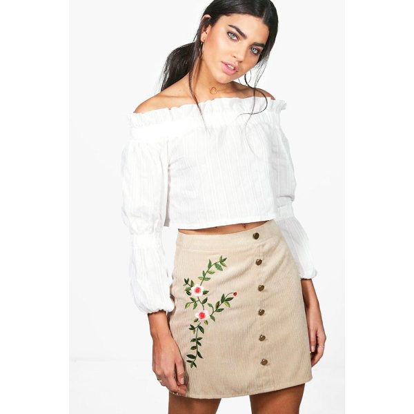 BOOHOO Inez Chunky Cord Embroidered Side Skirt - Skirts are the statement separate in every wardrobe This...