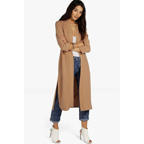 BOOHOO Isabella Turn Up Cuff Duster Coat - Wrap up in the latest coats and jackets and get out-there...