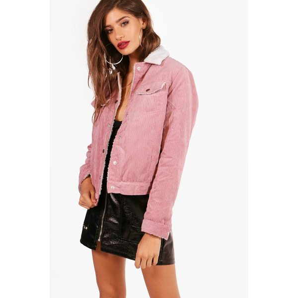 BOOHOO Isabelle Cord Trucker Jacket - Wrap up in the latest coats and jackets and get out-there...